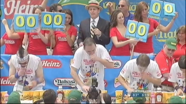 [NY] Joey Chestnut Wins Hot Dog Eating Contest