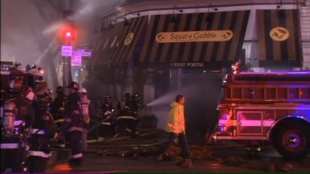 [BAY] Raw Video: 4-Alarm Fire At SF's Squat and Gobble