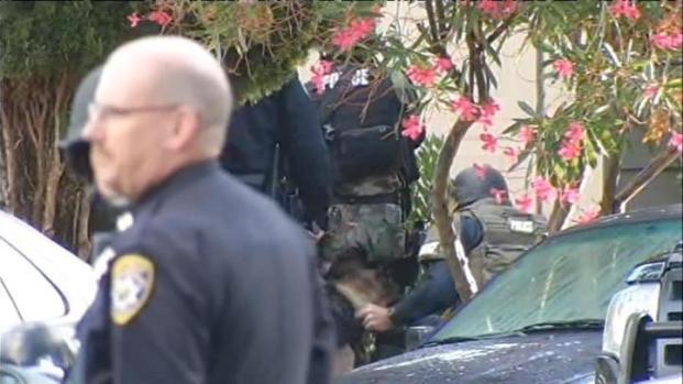 [BAY] Raw Video: Sunnyvale SWAT Swarms Neighborhood