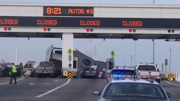 [BAY] Suspected DUI Driver Arrested After Crashing Box Truck Into Bay Bridge Toll Booth, Killing Caltrans Worker