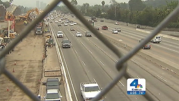 [LA] 405 Freeway Widening Project Closes Busy Exit