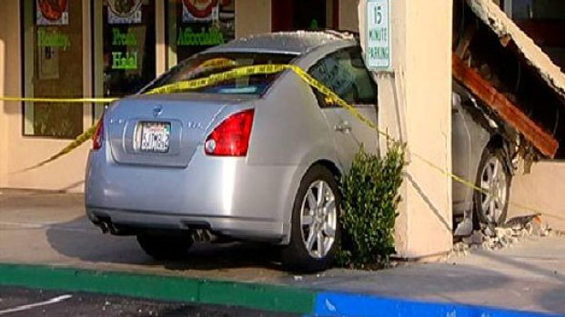Car Crashes into Taco Shop