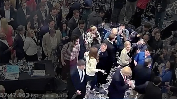 [NATL] Video Shows Lewandowski, Fields at Trump Event