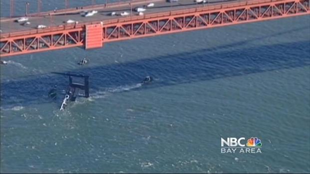 [BAY] Damaged Oracle Catamaran Finally Pulled From Bay