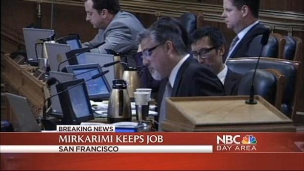 [BAY] SF Supervisors Vote to Reinstate Mirkarimi