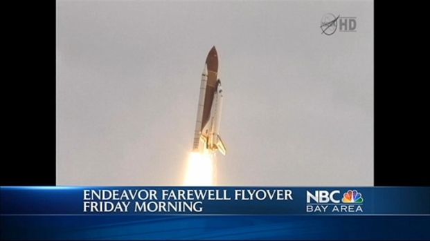 [BAY] Space Shuttle Endeavour's Salute to Moffett Field