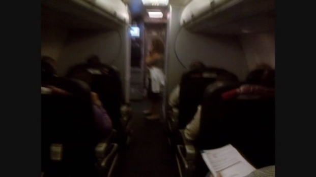 [MI] Raw Video: American Airlines Flight Delay
