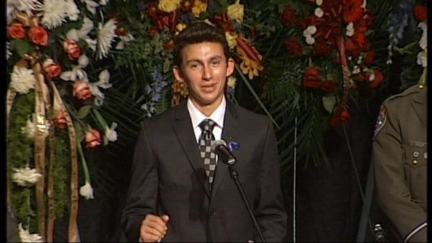 [BAY] Raw Video: Alex Youngstrom, Officer's Son, Speaks