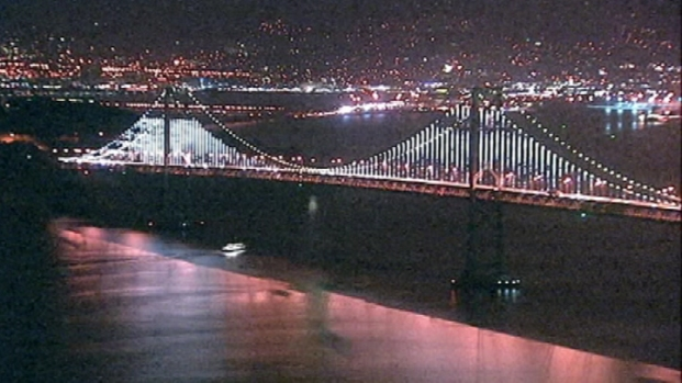 [BAY] Raw Video: Final Overnight Test of the Bay Lights