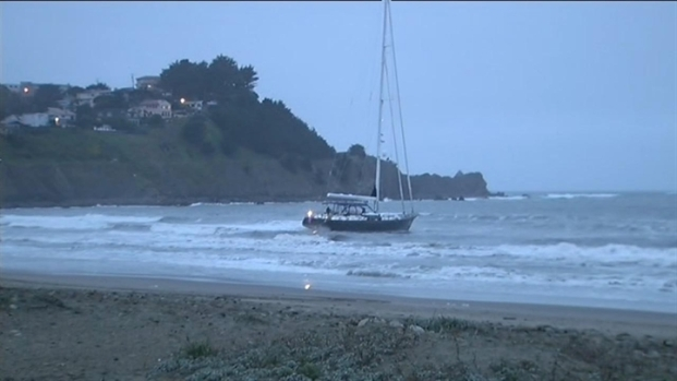 [BAY] Raw Video: Pacifica Sailboat in Distress
