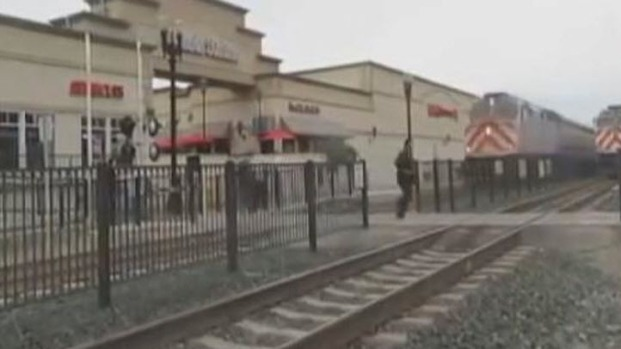 [BAY] Man Nearly Killed Whil Running Across Caltrain Tracks