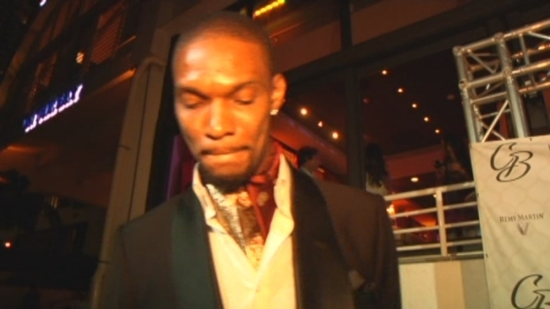 [MI] Chris Bosh on the Red Carpet During His 29th Birthday Party in Miami