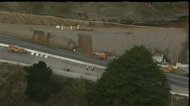 [BAY] Raw Video: Devil's Slide Reduced to One Lane