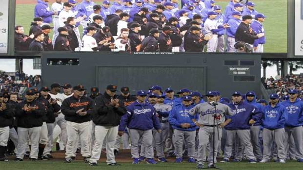 [LA] Dodgers, Giants Join Together for Fan