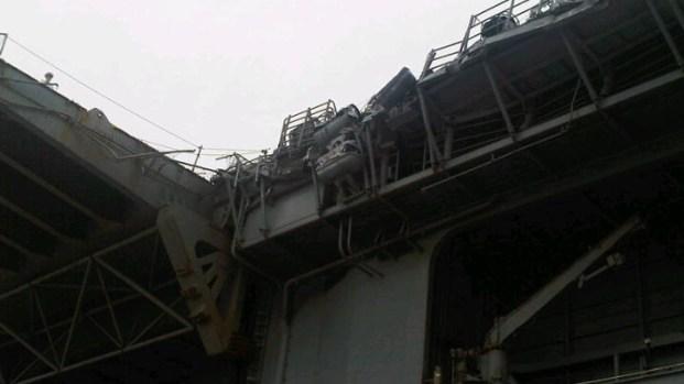 Damage to USS Essex