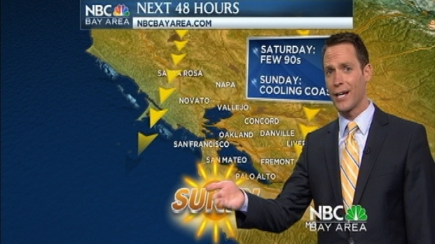 [BAY] Saturday Gets Hotter & Jeff's 7Day Has Rain