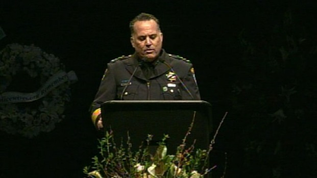 [BAY] Raw Video: Police Chief Kevin Vogel's Eulogy