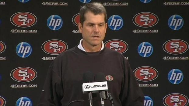 [BAY] Raw Video: 49er Coach Jim Harbaugh