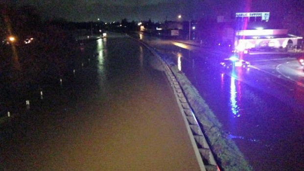 Storm Watch: Flooding Shuts Down Highway 101 in Gilroy