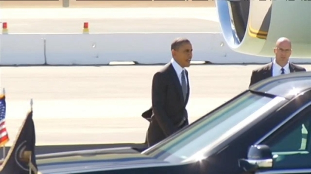 [BAY] Raw Video: Obama Lands At SFO