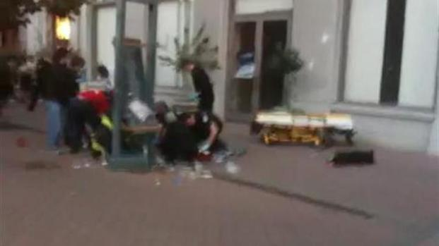 [BAY] Raw Video: Just After Shooting Near Occupy Oakland