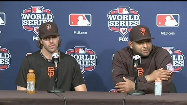 [BAY] Pablo Sandoval Meets the Press After Historic Home Runs