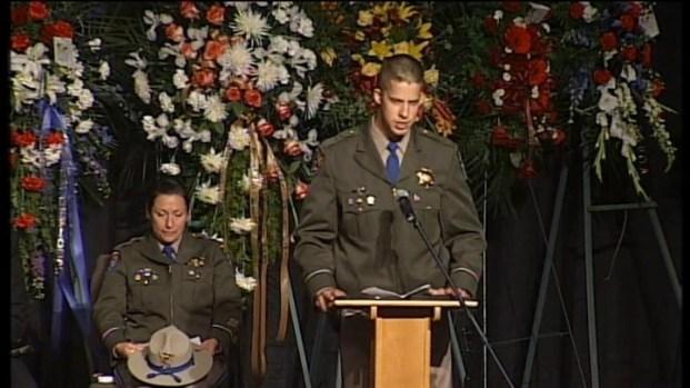 [BAY] Raw Video: Fallen Officer's Partner Tyler Carlton Speaks