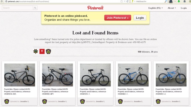 [BAY] Mt. View Police Use Pinterest For Lost and Found