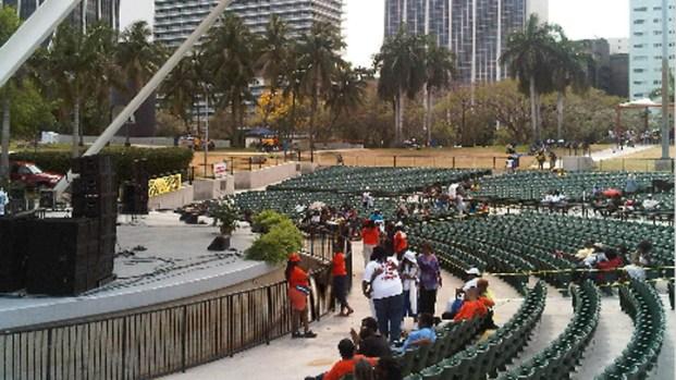 Trayvon Martin Rally In Miami's Bayfront Park