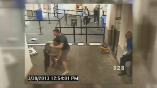 [BAY] Raw Video: Pinole Cop Tackles Woman in TSA Line