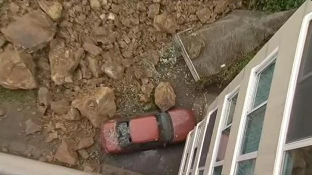 [BAY] Raw Video: Rocks Slide from Telegraph Hill