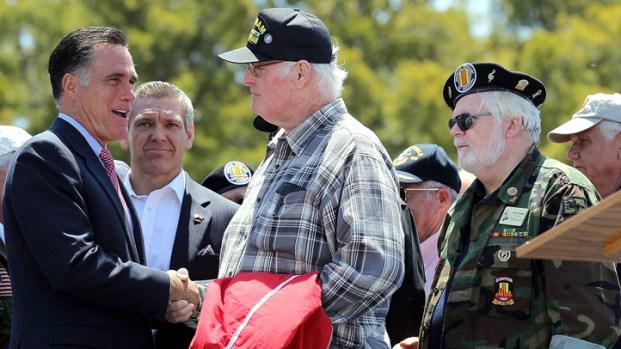 Mitt Romney Attends Memorial Day Tribute in San Diego