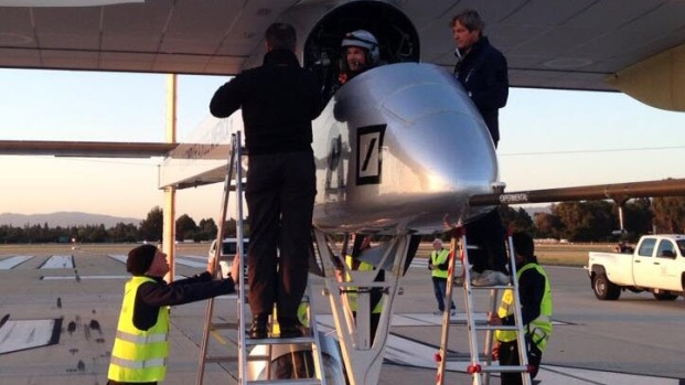 [BAY] Solar Plane Takes Off For 16-Hour Flight Across Bay Area
