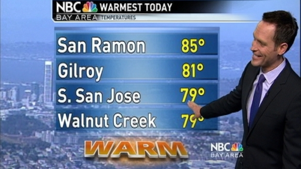 [BAY] Want More Heat? Jeff's Forecast Has Warmer Wednesday.