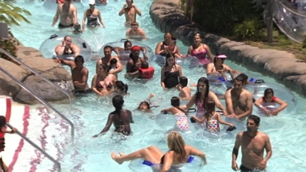[BAY] Raw Video: Beating the Heat at Concord's Water World