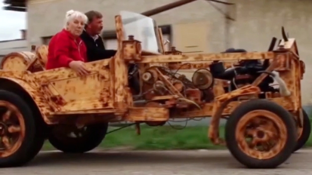 [AP] Knock on Wood, This Wooden Car Works
