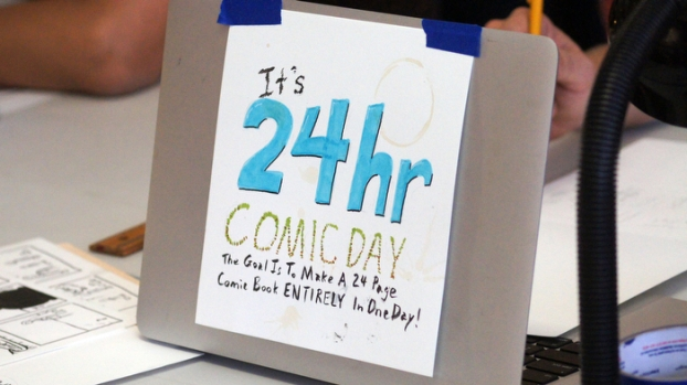 24 Hour Comic Book Day (Images)