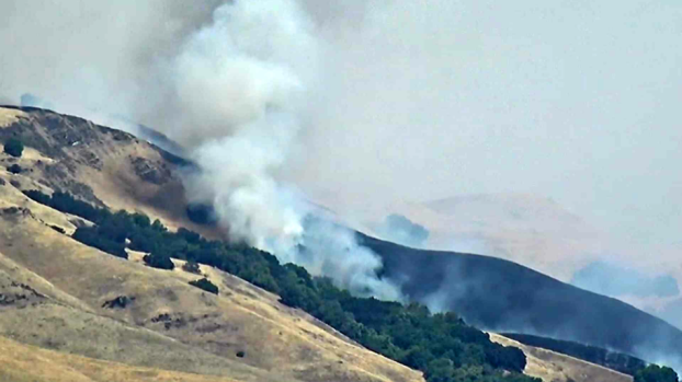 RAW: Flames Char Hills East of Milpitas