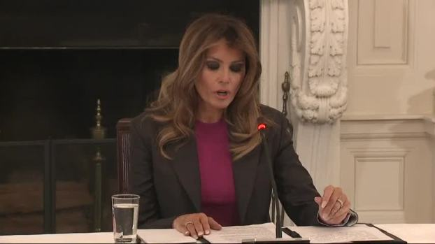 [NATL] Melania Trump Vows to Continue Cyberbullying Fight Despite Skepticism