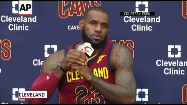 9b0e5d9976a2  NATL  Lebron James  Trump Trying to  Divide Us . Cleveland Cavaliers  forward ...