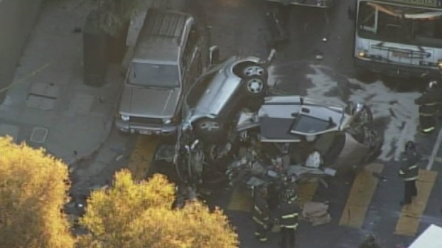 [BAY] RAW VIDEO: One Dead, Two Critically Injured in SF Crash