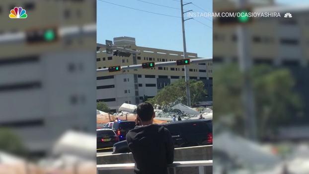 Miami Bridge Collapse as Seen on Social Media