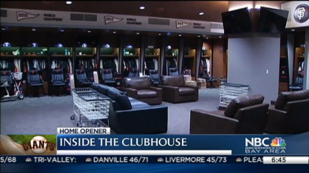 Sneak Peek of Giants' New AT&T Park Clubhouse