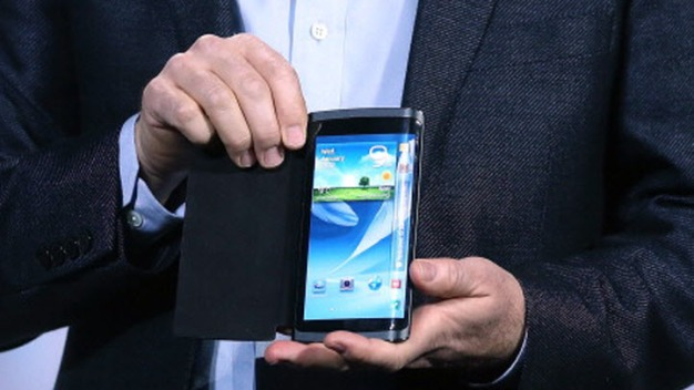 Samsung shows off bendable phone screen