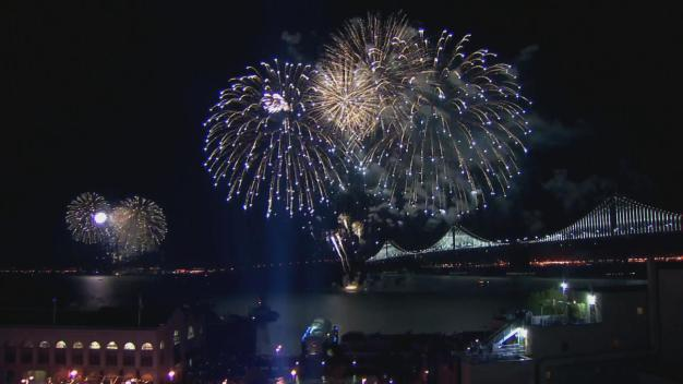Super Bowl City Fireworks Light Up San Francisco's Embarcadero