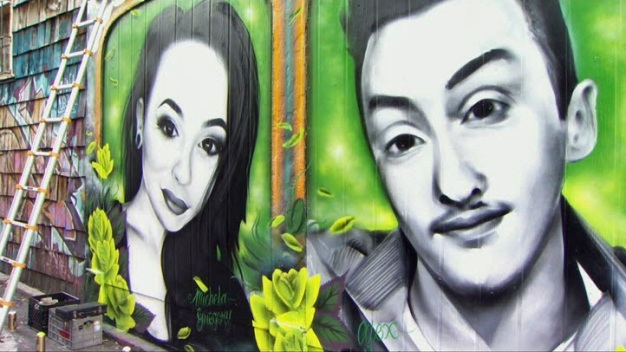 Memorial Mural for Oakland Ghost Ship Warehouse Fire Victims