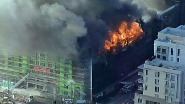 San Francisco Firefighters Battling 6-Alarm Blaze