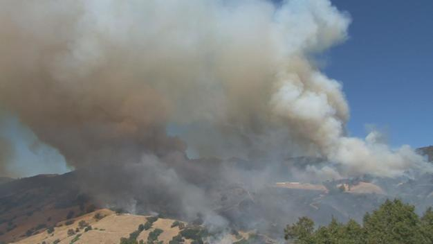 Firefighters Battling Rapid Wildfire in Sonoma County