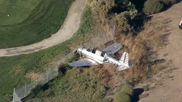 Small WWII-Era Plane Runs Off Runway at Livermore Airport