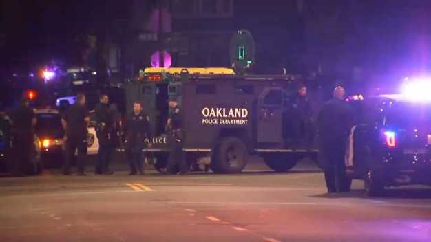 Search for Suspect Who Fired Gun at Oakland Police Officer